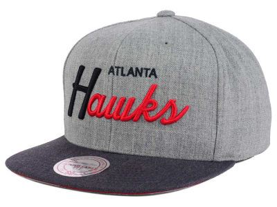 Atlanta Hawks Mitchell and Ness NBA Tri Pop Special Script Snapback Cap