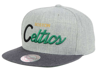 Boston Celtics Mitchell and Ness NBA Tri Pop Special Script Snapback Cap