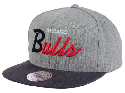 Chicago Bulls Mitchell and Ness NBA Tri Pop Special Script Snapback Cap