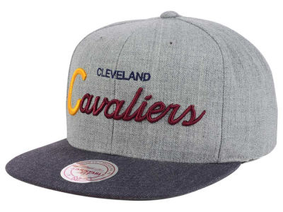 Cleveland Cavaliers Mitchell and Ness NBA Tri Pop Special Script Snapback Cap