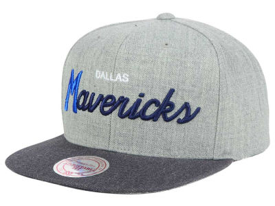 Dallas Mavericks Mitchell & Ness NBA Tri Pop Special Script Snapback Cap