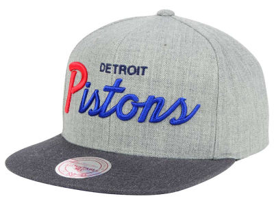 Detroit Pistons Mitchell and Ness NBA Tri Pop Special Script Snapback Cap