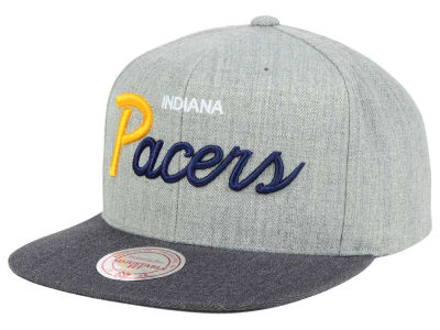 Indiana Pacers Mitchell and Ness NBA Tri Pop Special Script Snapback Cap