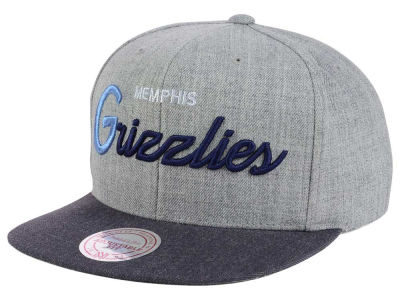 Memphis Grizzlies Mitchell and Ness NBA Tri Pop Special Script Snapback Cap