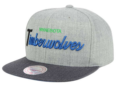 Minnesota Timberwolves Mitchell and Ness NBA Tri Pop Special Script Snapback Cap