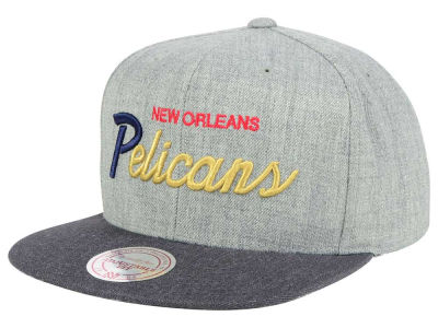 New Orleans Pelicans Mitchell and Ness NBA Tri Pop Special Script Snapback Cap