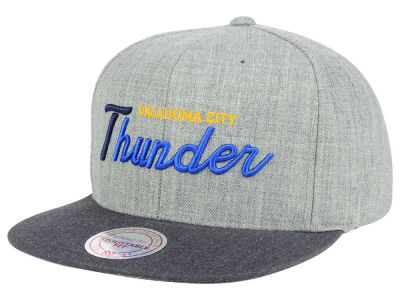 Oklahoma City Thunder Mitchell and Ness NBA Tri Pop Special Script Snapback Cap