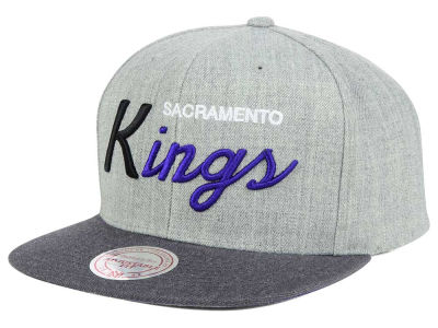 Sacramento Kings Mitchell and Ness NBA Tri Pop Special Script Snapback Cap
