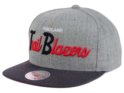 Portland Trail Blazers Mitchell and Ness NBA Tri Pop Special Script Snapback Cap