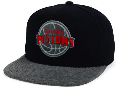 Detroit Pistons Mitchell and Ness NBA Fuzz 2Tone Fitted Cap