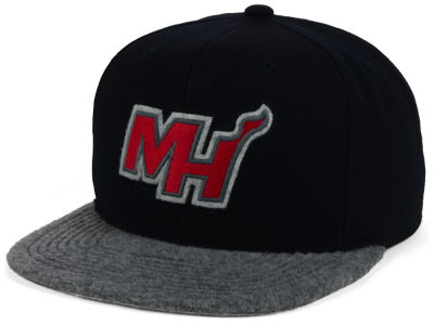Miami Heat Mitchell and Ness NBA Fuzz 2Tone Fitted Cap