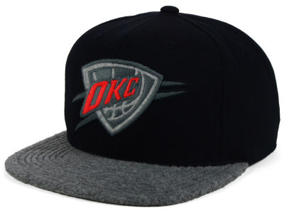 Oklahoma City Thunder Mitchell and Ness NBA Fuzz 2Tone Fitted Cap
