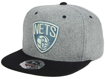 Brooklyn Nets Mitchell and Ness NBA Greyton Fitted Cap