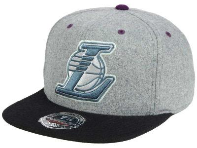 Los Angeles Lakers Mitchell and Ness NBA Greyton Fitted Cap