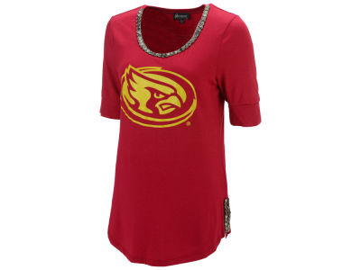 Iowa State Cyclones Gameday Couture NCAA Women's Beaded Neckline Half Sleeve T-Shirt