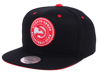 Atlanta Hawks Mitchell and Ness NBA Solid Velour Logo Snapback Cap