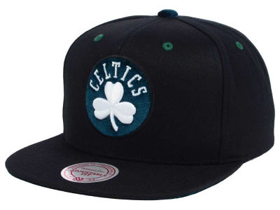 Boston Celtics Mitchell and Ness NBA Solid Velour Logo Snapback Cap
