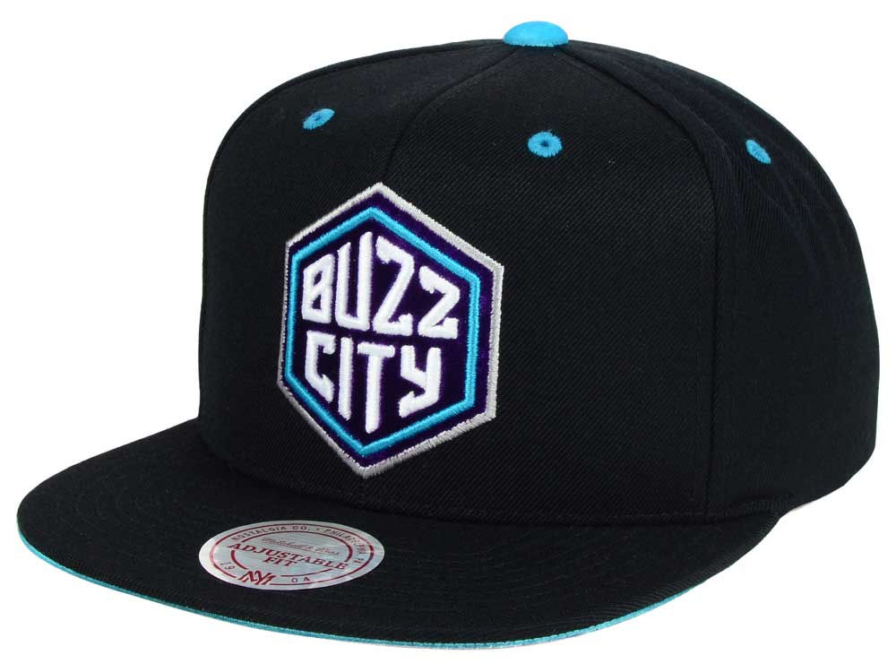 reputable site d4687 44b4a ... best price charlotte hornets mitchell ness nba solid velour logo snapback  cap 069af e1018