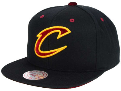 Cleveland Cavaliers Mitchell and Ness NBA Solid Velour Logo Snapback Cap
