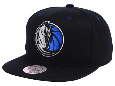 Dallas Mavericks Mitchell & Ness NBA Solid Velour Logo Snapback Cap