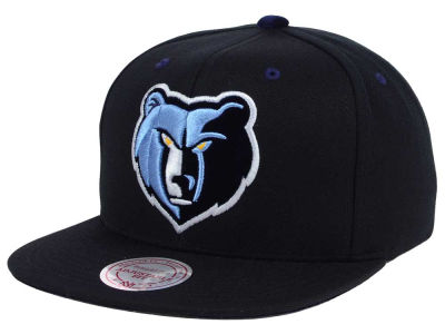 Memphis Grizzlies Mitchell and Ness NBA Solid Velour Logo Snapback Cap