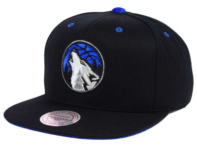Minnesota Timberwolves Mitchell and Ness NBA Solid Velour Logo Snapback Cap