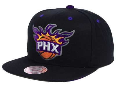 Phoenix Suns Mitchell and Ness NBA Solid Velour Logo Snapback Cap