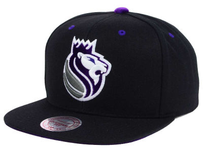 Sacramento Kings Mitchell and Ness NBA Solid Velour Logo Snapback Cap