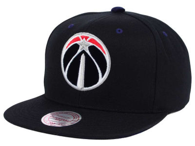 Washington Wizards Mitchell and Ness NBA Solid Velour Logo Snapback Cap