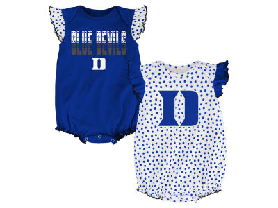 Duke Blue Devils NCAA Newborn Girls Polka Fan Set