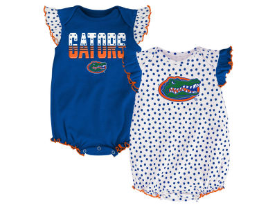Florida Gators NCAA Newborn Girls Polka Fan Set