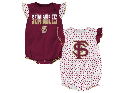 Florida State Seminoles NCAA Newborn Girls Polka Fan Set