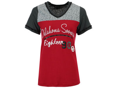 Oklahoma Sooners Gameday Couture NCAA Women's Herringbone Football T-Shirt