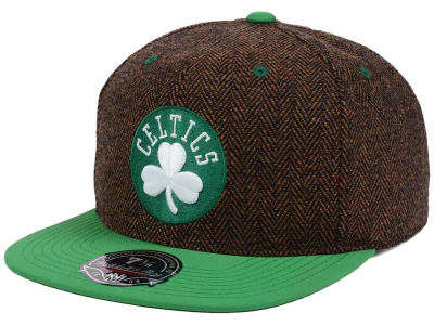 Boston Celtics Mitchell and Ness NBA Donegal Tweed Fitted Cap