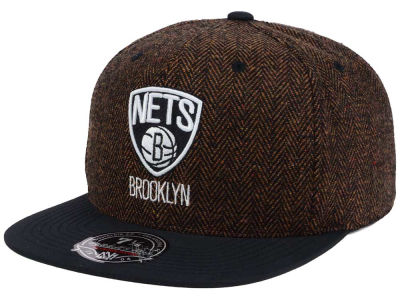 Brooklyn Nets Mitchell and Ness NBA Donegal Tweed Fitted Cap
