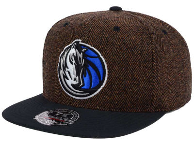Dallas Mavericks Mitchell and Ness NBA Donegal Tweed Fitted Cap