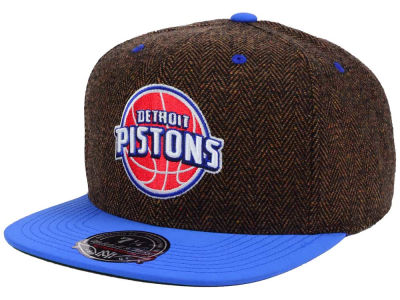 Detroit Pistons Mitchell and Ness NBA Donegal Tweed Fitted Cap