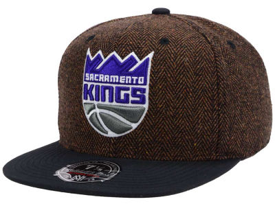 Sacramento Kings Mitchell and Ness NBA Donegal Tweed Fitted Cap
