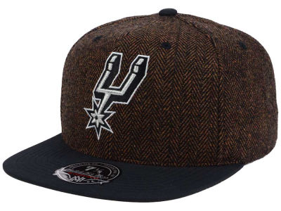 San Antonio Spurs Mitchell and Ness NBA Donegal Tweed Fitted Cap