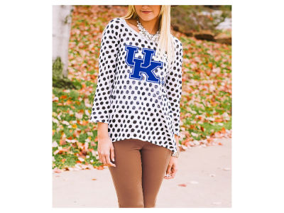 Kentucky Wildcats Gameday Couture NCAA Women's Open Back Polka Dot Sweater