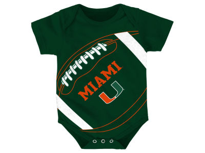 Miami Hurricanes NCAA Newborn Football Fanatic Creeper