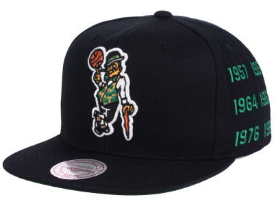 Boston Celtics Mitchell and Ness NBA Championship Pack Cap