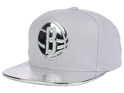 Brooklyn Nets Mitchell and Ness NBA Metallic Foil Snapback Cap