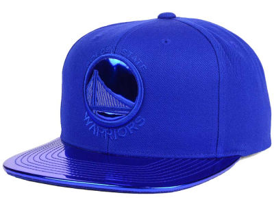 Golden State Warriors Mitchell and Ness NBA Metallic Foil Snapback Cap