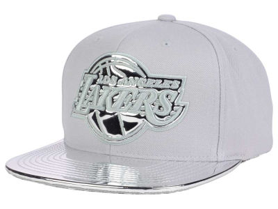 Los Angeles Lakers Mitchell and Ness NBA Metallic Foil Snapback Cap