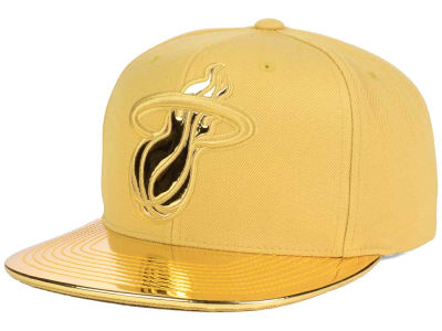 Miami Heat Mitchell and Ness NBA Metallic Foil Snapback Cap