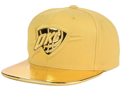 Oklahoma City Thunder Mitchell and Ness NBA Metallic Foil Snapback Cap
