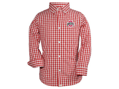 Ohio State Buckeyes NCAA Toddler Logan Long Sleeve Button Down Shirt