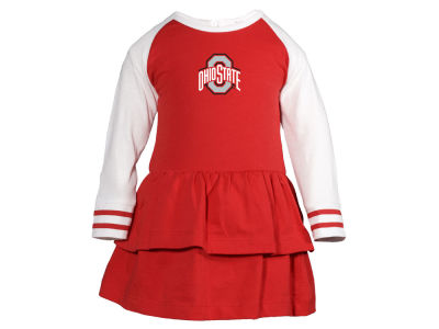 Ohio State Buckeyes NCAA Toddler Girls Kacey Long Sleeve Dress