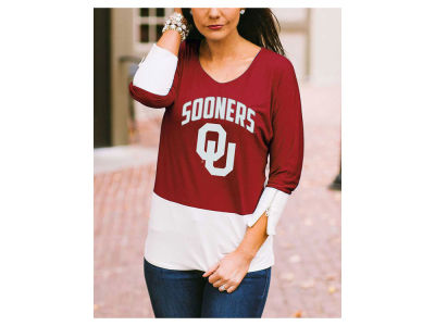 Oklahoma Sooners Gameday Couture NCAA Women's Color Block Zipper Top